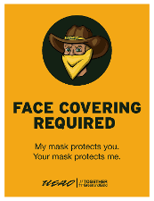 Face Covering Required - My Mask Protects You. Your Mask Protects Me.