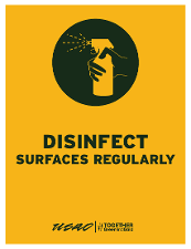 Disinfect Surfaces Regularly
