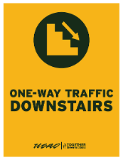 One-Way Traffic Downstairs