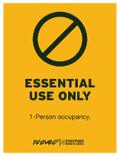 Essential Use Only - 1-Person Occupancy