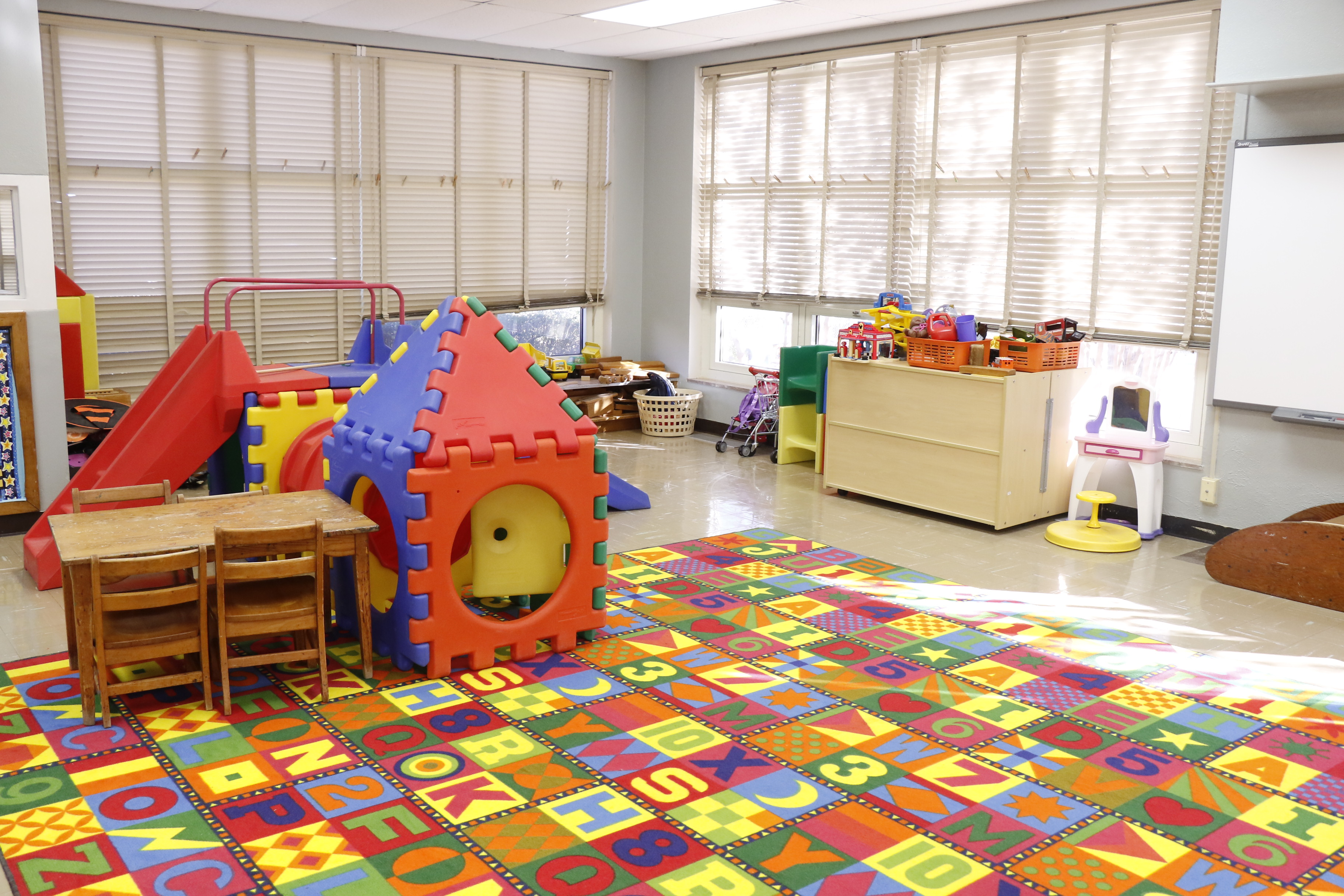 Playroom in USAO's Child Development Center