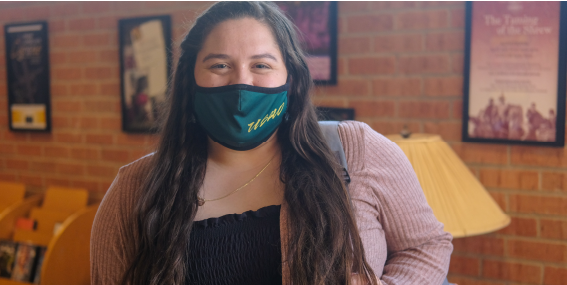 Arlette Melendez with green USAO mask