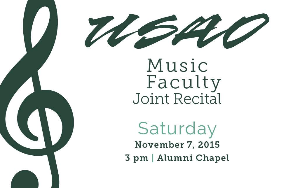 Concert to Introduce New USAO Music Faculty