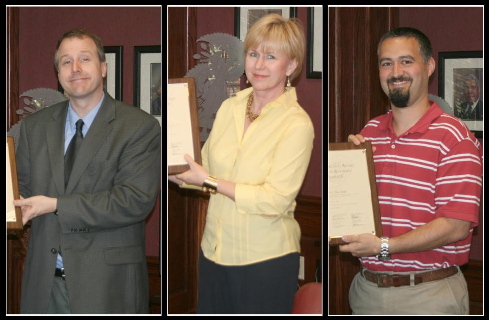 Faculty Members Honored for Classroom and Research Work