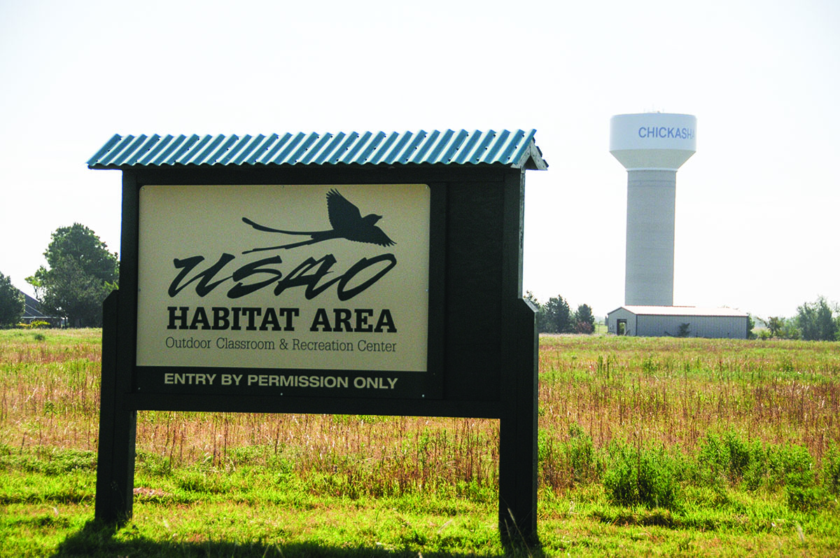 picture of sign at the USAO habitat area