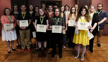 USAO inducted 22 into Hypatia Honor Society