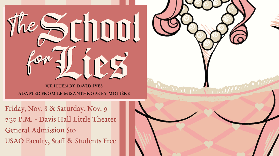 """The School for Lies"" brings French satire into 21st century Nov. 8–9"