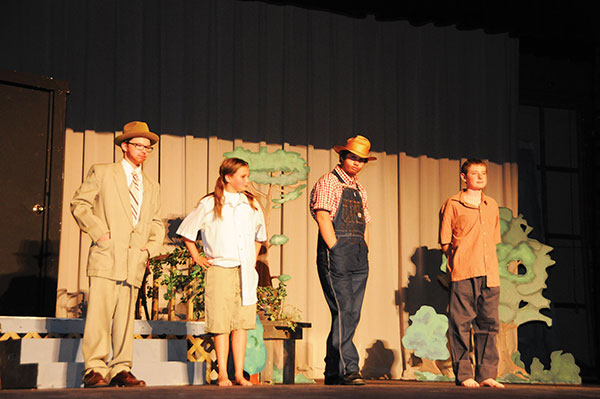 To Kill a Mockingbird cast on stage